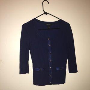 WHBM navy blue cardigan